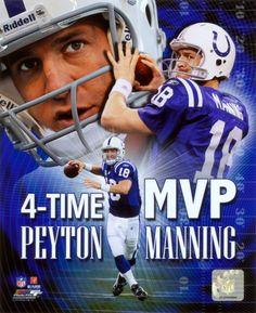 10b0046bd Peyton Manning 4 X MVP Portrait Plus Photo at AllPosters.com