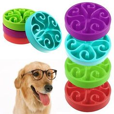 Puppy Dog Slow Down Eating Feeder Dish Pet Dog Cat Feeding Food Bowl