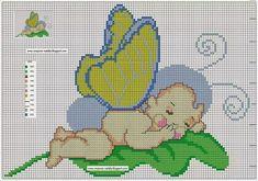 schemi punto croce bimbi coccinella | Hobby lavori femminili - ricamo - uncinetto - maglia
