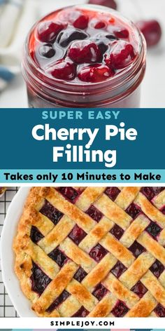 This Cherry Pie Filling recipe is a keeper! It is so simple to make, and will become a family treasure. Homemade Cherry Pies, Tart Filling, Cherry Desserts, Kitchen Hacks, Frosting, Sweet Tooth, Sweet Treats, Dessert Recipes, Cooking Recipes