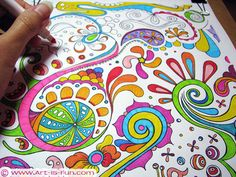 Free Abstract Coloring Page to Print, by Thaneeya McArdle. Omg I would've gone freaking nuts for a whole book of these as a kid. And probably now too...