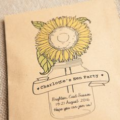 10 Hen Party Personalised Seed Packet Favours by WeddingInATeacup on Etsy