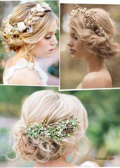 2015 yılına girmemizle beraber, yeni yıl düğünlerinin de sayısı artmaya başladı. Yaz yaklaştıkça artacak olan düğün sayıları, bir sorunun da artmasına neden oluyor. Gelinlerin kafası acaba saçımı nasıl yaptırsam sorusuna takılıp duruyor. Hem gelinlere örnek olması açısından hem de kuaförlere fikir vermesi için farklı ve 2015 modasına uygun gelin saçı örneklerini derledik.