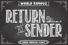 Return To Sender Font by Tom Kolter Fun Shop on @creativemarket