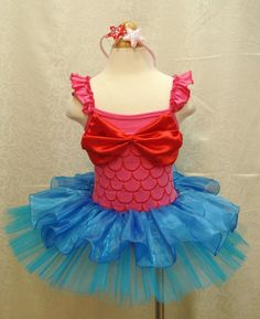 ad821d809 Little Mermaid Ariel Princess Girls Party Costume Tutu Dress Up Outfit Sz  2T- 8 Mermaid