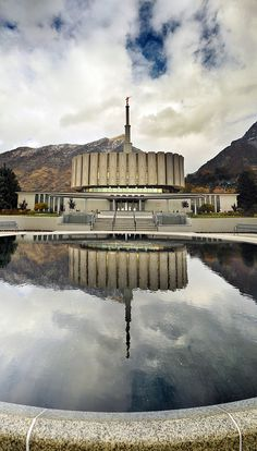 Provo Temple Reflected