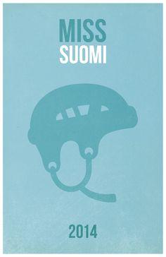 Miss Suomi -juliste, jonka keskiössä se varsinainen kruunu, josta osallistujat todella kisaavat.