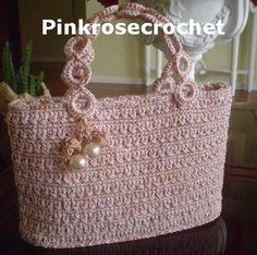 Pink bag crochet - cute!