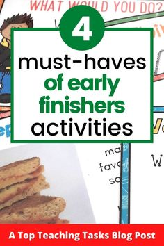"Early Finishers Activities are a must in your classroom. We have all heard the dreaded, ""I'm Done, Now What?"