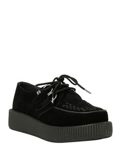 Jeepers! // T.U.K.Black Suede Low Sole Viva Creepers