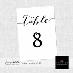 picture regarding Free Table Number Printable identified as 61 Simplest Figures illustrations or photos inside 2013 Printables, Printable