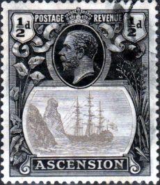 Ascension Islands Stamps 1924 King George V Ship SG 10 Fine Used Scott 10 Other Ascension Island Stamps HERE