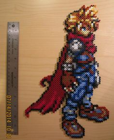 Kingdom Hearts Cloud Perler by shinigamigrl on deviantART