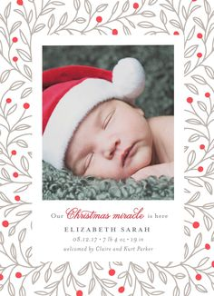 """Christmas Miracle"" by Minted artist, Jana Volfova. Letterpress holiday photo card."