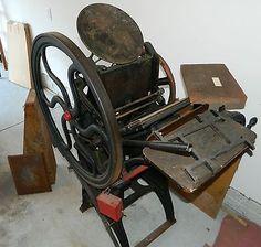 Antique-Golding-Pearl-Printing-Press-Type-Hamilton-Cabinet-Complete-Print-Shop