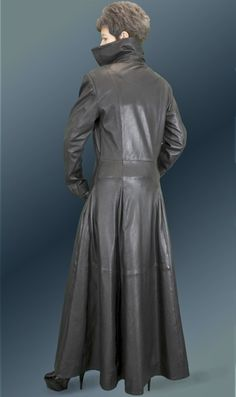 Coats leather ladies ladies and mens leather wear long gloves