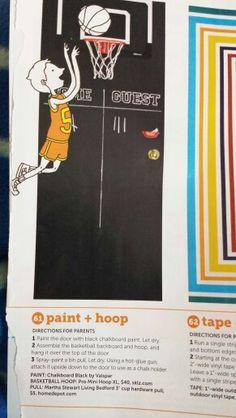 Chalkboard/Basketball Bedroom Door