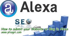 How to submit your Website or Blog in Alexa for full tutorial visit the website happy learning :)