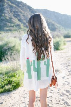 Show Me Your Mumu cactus cardigan  // similar white tank   Rebecca Minkoff mini suki handbag  // Topshop shorts (old), simila...