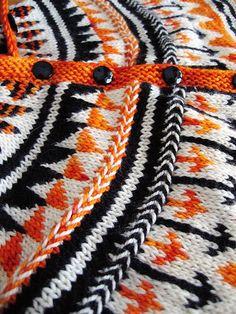 Oranje fair isle cardigan : Knitty Winter 2011.gorgeous colour!