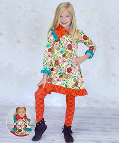 Love this Orange Shawna Dress Set & Doll Outfit - Infant & Toddler by Jelly the Pug on #zulily! #zulilyfinds