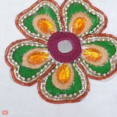 Here's some inspo in case you were looking for a flower embroidery design. Here's some inspo in case you were looking for a flower embroidery design. Hand Embroidery Videos, Bead Embroidery Patterns, Hand Embroidery Flowers, Embroidery Sampler, Flower Embroidery Designs, Creative Embroidery, Learn Embroidery, Hand Embroidery Stitches, Crewel Embroidery