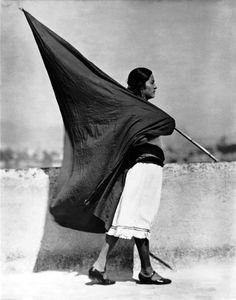 Tina Modotti's Woman With Flag, Mexico City, 1928