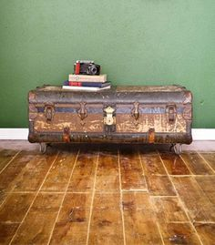 LOVE vintage suitcases in home decor.