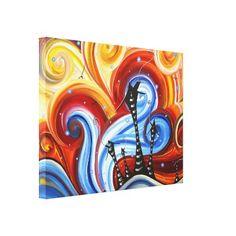 Little Village Original Whimsical MADART Painting Canvas Print $141.40