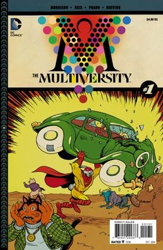 This is the variant cover for Multiversity the new reality-bending comic book series written by Grant Morrison, the first issue drawn by Ivan Vintage Comic Books, Vintage Comics, Comic Books Art, A Comics, Action Comics 1, Superman 1, Drawn Art, Weird Science, Comic Book Covers