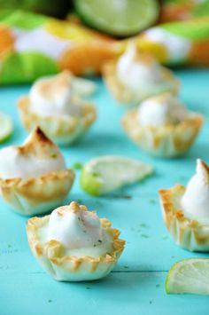 Vegan Lime Tarts with Aquafaba Meringue