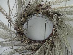 Pussy Willow Wreath Dried Wreath Silver King Natural Wreath Large Wreath Front Door Wreath Wreath For Door Tallow Berry Wreath Willow Wreath, Twig Wreath, Boxwood Wreath, Green Wreath, Berry Wreath, Wreaths For Front Door, Door Wreaths, Autumn Wreaths, Wreath Fall