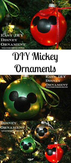 Easy DIY Disney Ornaments | from willcookforsmiles.com #ornaments #disney