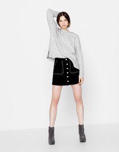 :Square-cut sweater