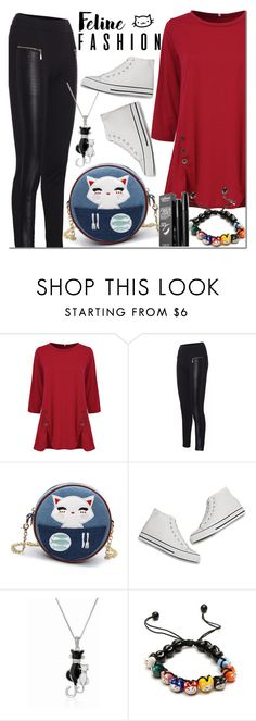 """""""NEWCHIC feline fashion"""" by mada-malureanu ❤ liked on Polyvore featuring GetTheLook and lovenewchic"""