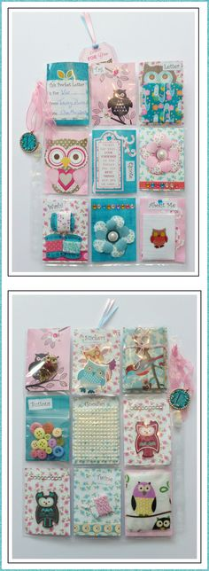Pocket letter swap sent by me to Viv in an Owl Theme.