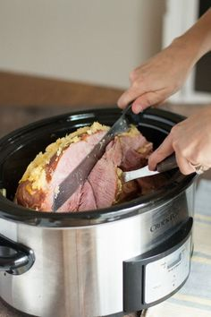 Slow Cooker Brown Sugar Ham