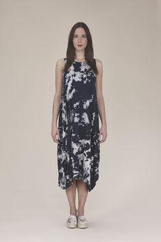Sleeveless tie dye dress $125.00