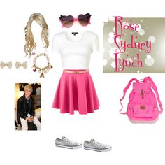 """""""Rosey's first day of 7th grade"""" by tootlebuggy on Polyvore For my fan fiction about R5's kids. It's called Back From The Past. You can find it on Quotev"""