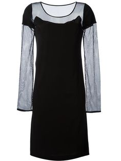 MAISON MARGIELA Mesh Sleeves Dress. #maisonmargiela #cloth #dress