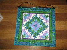 Peacock Twister wall hanging - front