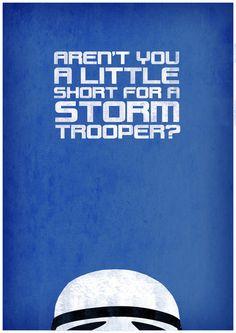 Aren't you a little short for a storm trooper? #Starwars #princessleia #lukeskywalker