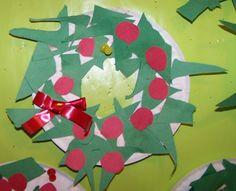 Greatest Resource - December Preschool Lessons - Scrap Paper Wreaths
