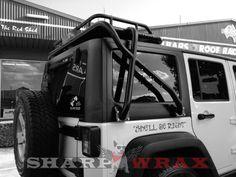 jeep JK hard top roof rack | ... Wrangler Roof Rack - Sharpwrax - JKowners.com : Jeep Wrangler JK Forum