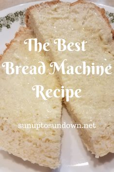 This is the best bread machine recipe you will find. This high-rising, tender, airy loaf with a homemade flavor and texture will impress those of all ages! Oster Bread Machine Recipe, White Bread Machine Recipes, Best Bread Machine, Bread Maker Recipes, Baking Recipes, Best Sandwich Bread Machine Recipe, Cake Recipes, Tofu, Bread Recipes