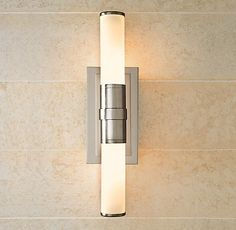Great sconce for  a 1940's #bathroom (like ours)