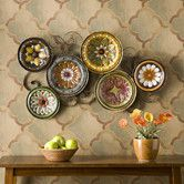 Add a Tuscan feel to your home decor with this Scattered Italian Plates Wall Decor. This ornamental wall decor features six multicolored hand painted plates with an Italian pottery inspired design. Plate Wall Decor, Dining Room Wall Decor, Tree Wall Decor, Metal Wall Decor, Plates On Wall, Metal Wall Art, Painted Plates, Metal Artwork, Hand Painted