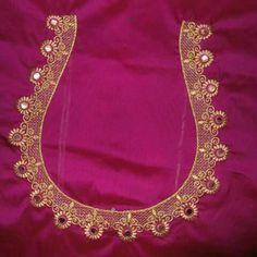 Pattu Saree Blouse Designs, Simple Blouse Designs, Stylish Blouse Design, Bridal Blouse Designs, Blouse Neck Designs, Mirror Work Blouse Design, Kutch Work Designs, Designer Blouse Patterns, Embroidery Designs