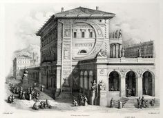 Antonio Basoli was an Italian artist that lived between the 18th and the 19th century working mostly in Bologna. Among other things, he created these beautiful architectural alphabet engravings called Alfabeto Pittorico.