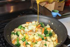 Tofu Curry Stirfry with Quinoa and Thai Yellow Curry Sauce... so flavorful, healthy, and quick!